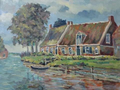 J.A. van Royen, Huis met schuur aan Damsterdiep